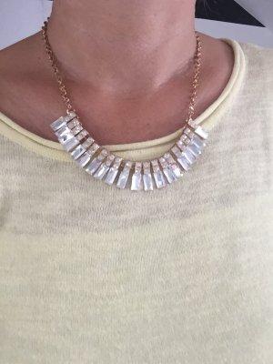 Halskette Neu Statementkette silber klar gold
