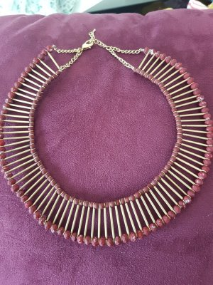 Parfois Necklace bronze-colored-dark red