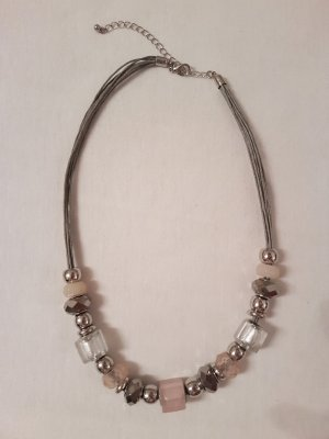 Halskette rosa-silber