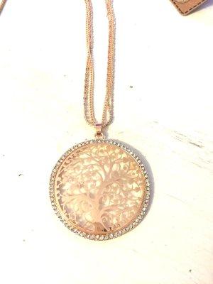 Halskette rosegold Lebensbaum Neu Kette Damen