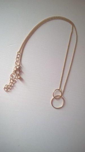 Halskette rosegold mit Ringen Reifen Kreisen