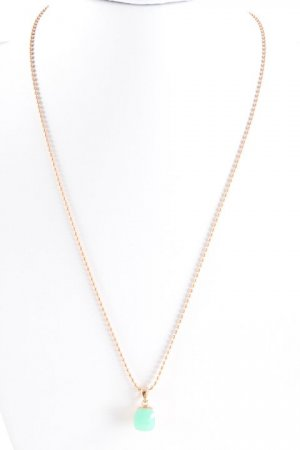 Halskette roségoldfarben-türkis Elegant
