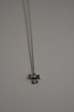 Halskette Silber Schleifchen Schleife