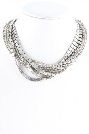 Necklace silver-colored party style