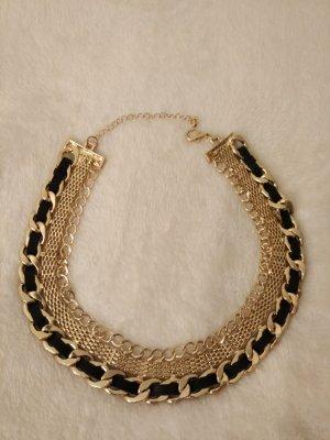 Halskette Statement Kette in gold und schwarz