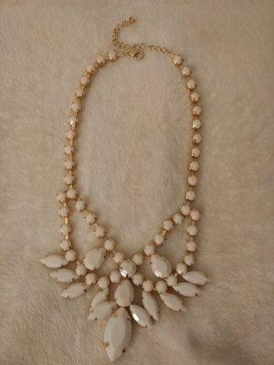 Halskette Statement Kette in gold und weiß
