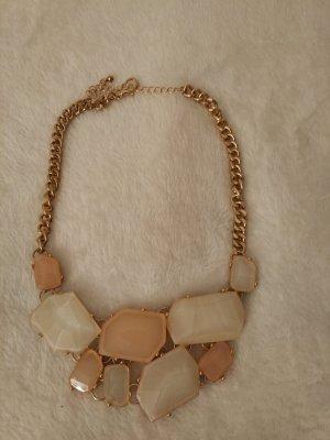 Halskette Statement Kette in gold ,weiß, apricot, rosé