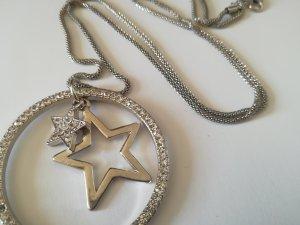 Halskette Sterne Silber Strass Kristall Anhänger modischer Schmuck