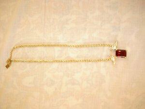Necklace dark red-sand brown