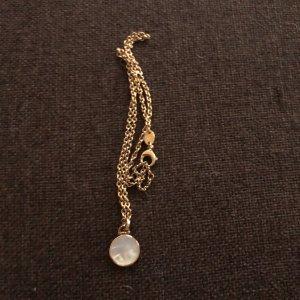 Halskette von Fossil mit runden perlmutfarbenen Anhänger