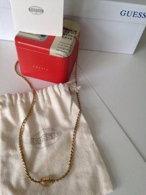 Halskette von Fossil NEU gold schlösschen