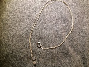 Halskette von Fossil ohne Verschluss