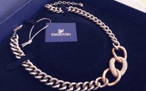 Swarovski Necklace silver-colored-rose-gold-coloured