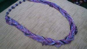 """Halskette """"Zopf"""" lila"""