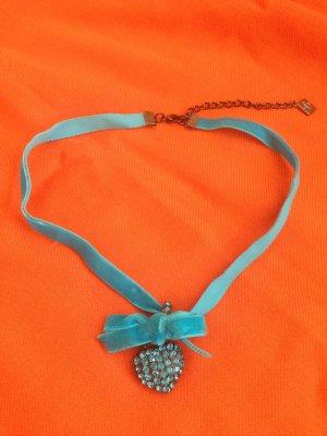 Halskette zum Dirndl / Trachtenmode, blau