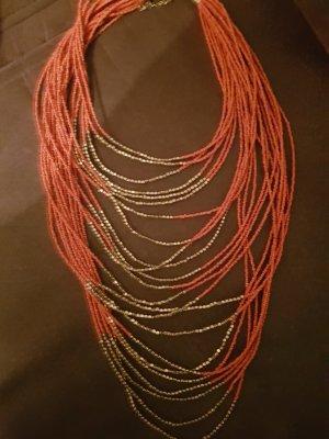 Collier bronze-orange foncé