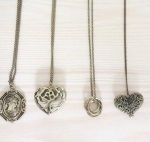 Halsketten Schmuckset 4 Ketten Antikgold Camee Kamee Antik Look Vintage NEU