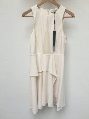 Halston Heritage - Fließendes Kleid mit Georgette-Einsatz (NP 375 USD)