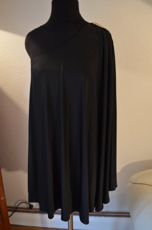 HALSTON HERITAGE One-Shoulder Cape Dress