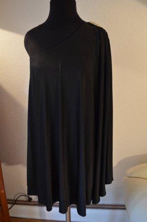 HALSTON HERITAGE One-Shoulder Cape Dress