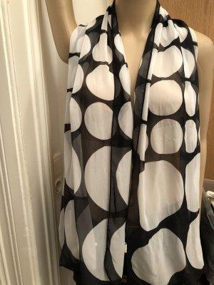 Zijden sjaal zwart-wit Viscose