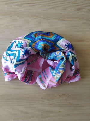 Bufanda de seda rosa-magenta