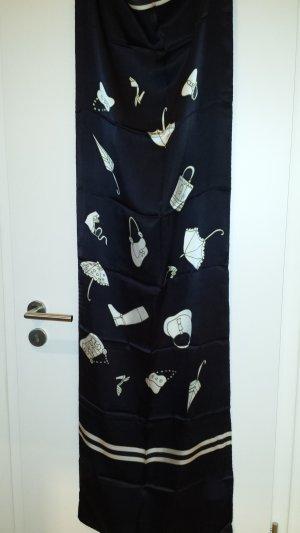 Pañoleta negro-blanco puro Seda
