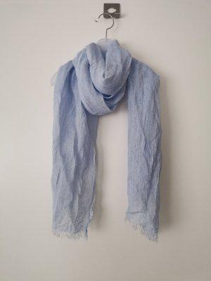 Fazzoletto da collo azzurro Lino