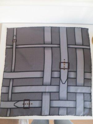 Halstuch aus Seide von Burberry, 47x47cm, Grau, hervorragender Zustand
