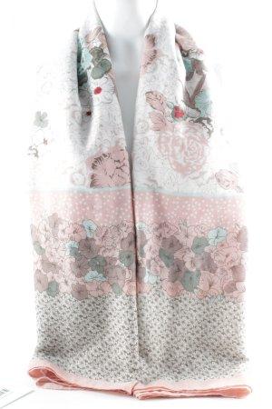 Neckerchief flower pattern casual look