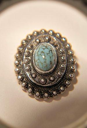 Broche zilver-lichtblauw