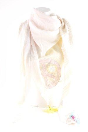 Fazzoletto da collo crema-rosa pallido motivo astratto Stile Boho