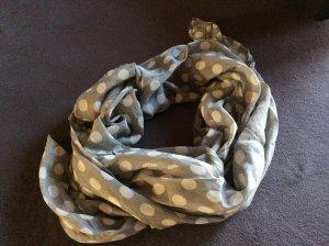 Neckerchief silver-colored-white mixture fibre