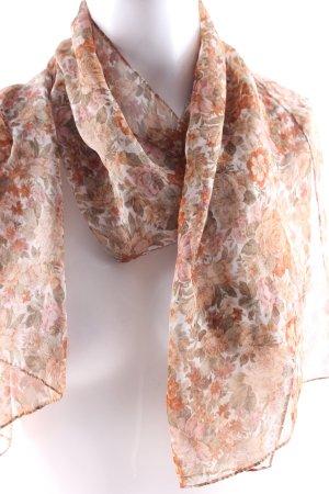 Foulard motif floral style rétro