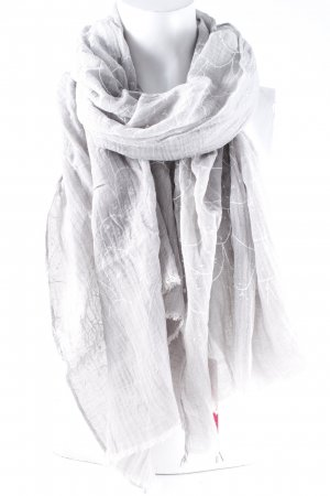 Foulard gris clair-blanc imprimé abstrait style simple