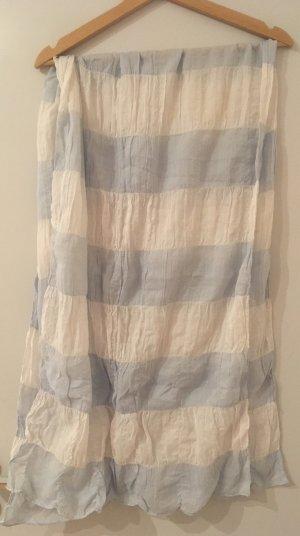 Foulard blanc-bleu azur