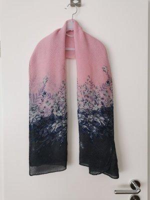 Fazzoletto da collo antracite-rosa chiaro