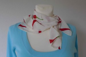 Neckerchief white-dark red