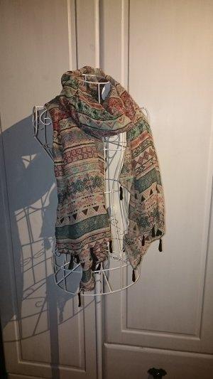 Halstuch mit geometrischem Muster 100 x 184 cm