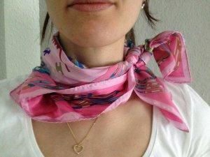 Foulard blanc-rose