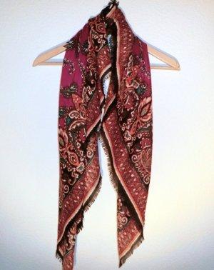 Halstuch mit Paisley Print, bordeaux, rot