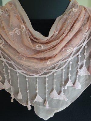 Fazzoletto da collo rosa antico-rosa pallido
