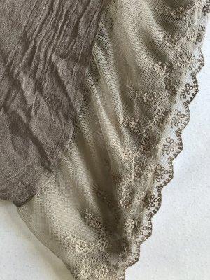 Tchibo / TCM Fazzoletto da collo marrone-grigio-sabbia
