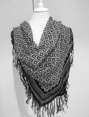 H&M Fazzoletto da collo nero-bianco