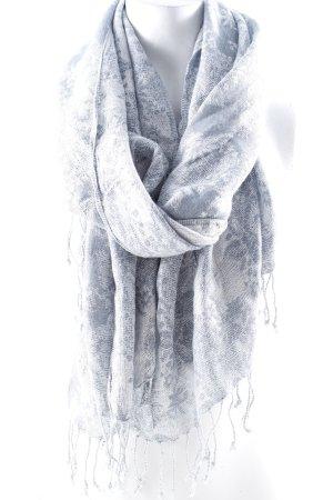 Halstuch silberfarben-blassblau abstrakter Druck Casual-Look