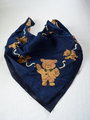 Vintage Foulard multicolore coton