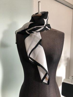 Halstuch Tuch Kopftuch Geometrische Muster weiß-schwarz