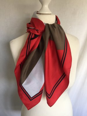 Halstuch Tuch Rot Weiß Ocker mehrfarbig mehrfarbiges quadratisch quadratisches