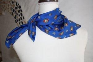 Foulard bleu polyester