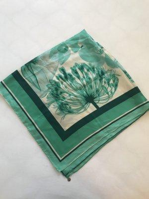 Halstuch türkis/grün / off-white mit Blumenprint von Esprit